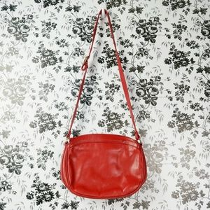 Vintage Robinson's Italian leather red crossbody